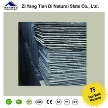 Black color natural stone slate roof