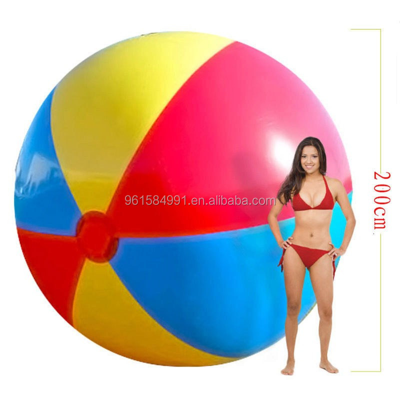 Super big inflatable beach ball toys-200cm