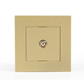 Home and Hotel modern gold Sat TV socket