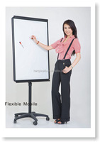 double Sided Moveable Whiteboard with stand flip chart board for school or office