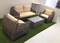 Stylish 4 pcs patio rattan wicker furniture sofa set