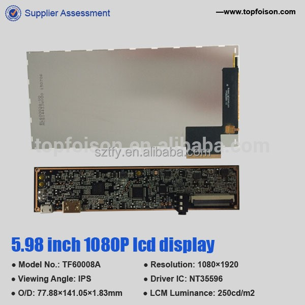 6 inch 2k 1440P LCD LCM panel intelligent with competitive price for projector/HMD TF60010A