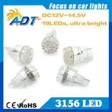 HOT! Best price White 19 LEDs Turn Signal Lamp 3156 LED light Bulbs straw hat lights