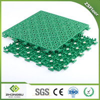ZSFloor outdoor interlocking plastic flooring tile