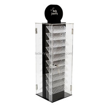 Acrylic Spinning Locking Body Jewelry Display Stand