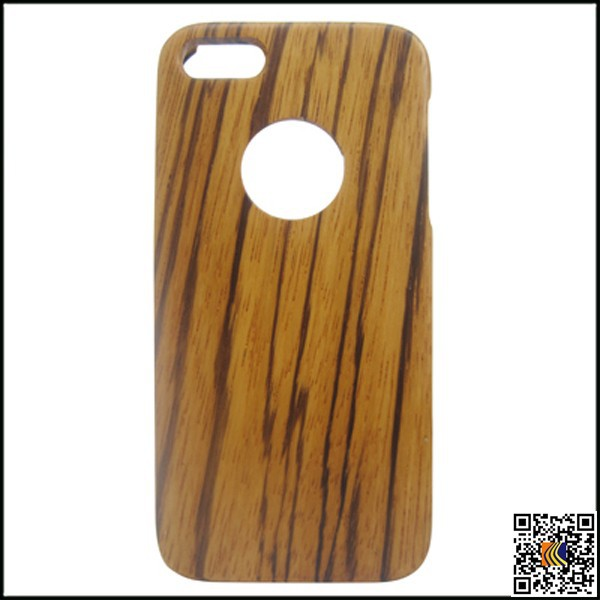 High quality factory price Zabra real wooden case for iphone 5s,wood cell phone case for iphone 5
