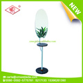 multifunction standing mirror with shelf