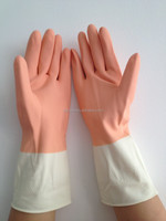 Double Color Latex Household Rubber hand Glove