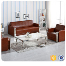 Guangzhou furniture l shape leather sofa (F-507)