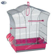 New design favourite wire bird breeding cage in pink color