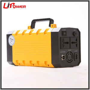 Portable Solar Generator Power Supply UPS Power Source 110V AC outlet 120W Inverter External Backup Charger