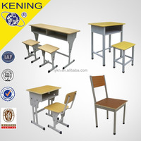 School Furniture Type and MDF + Steel Frame Material Laminate Desk and Chair