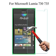 2.5D Round Edge Tempered Glass Screen Protector 0.3mm Ultra Thin for Microsoft Lumia 730 735