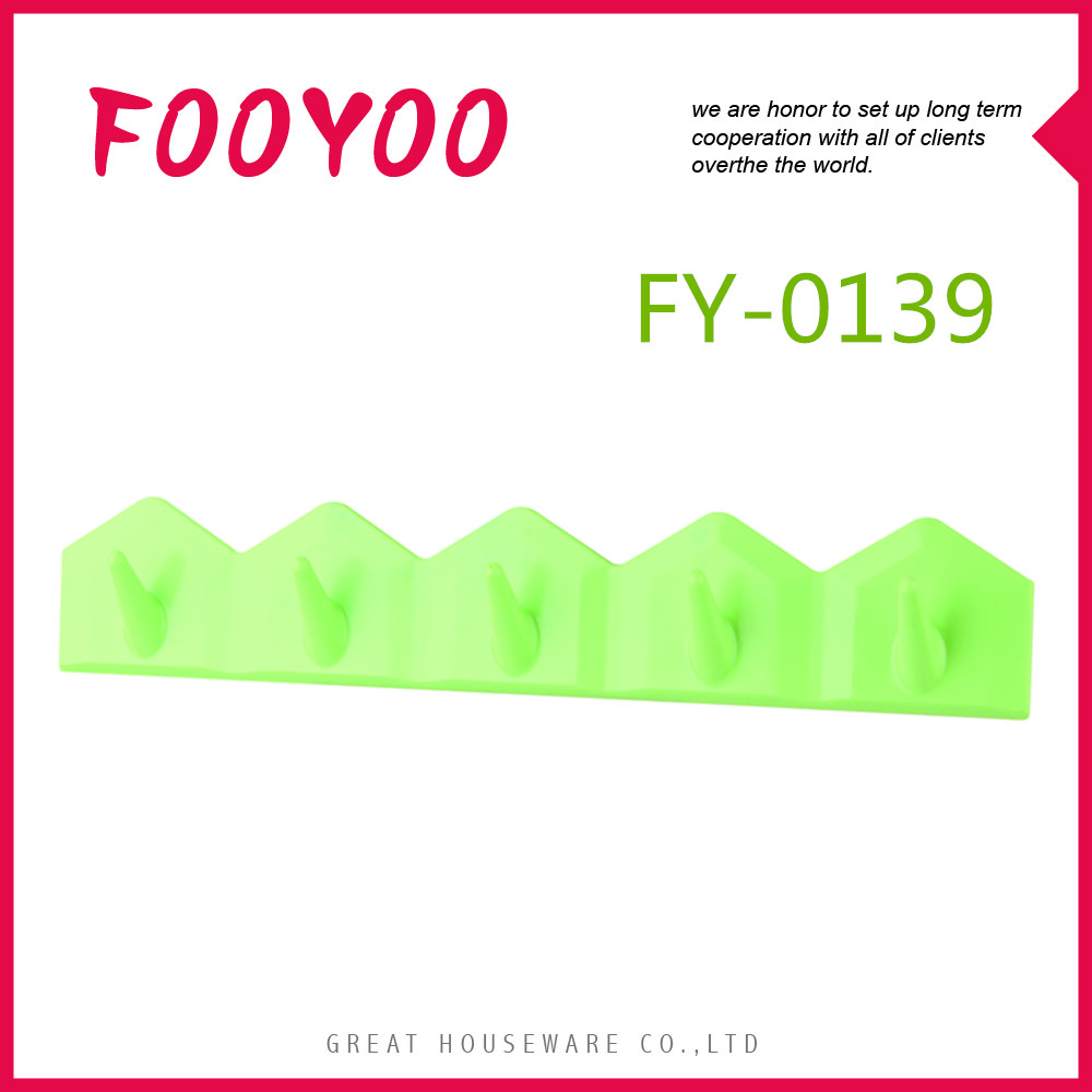 FOOYOO FY-0139 CLOTHES AND TOWEL FLAT PLASTIC DOOR COAT HOOKS