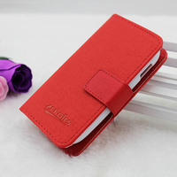 Leather flip case for sony xperia tipo st21i