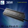 high pfc waterproof ip67 36w constant current led driver 300ma with 5 years warranty