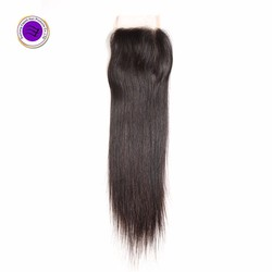 100% human hair wholesale Cheap brazilian straight virgin hair extension lace closure