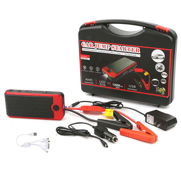 Portable 12V emergency power bank Mini car jump starter