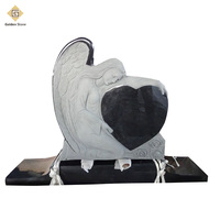 Hot Selling Polished Black Angel Heart