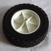 8 inch plastic solid rubber wheel for plastic dustbin/trash bin