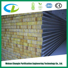 Manufacturer Rock wool sandwich panel roofing sheets wall claddings