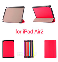 High Quality Cover 10 Color Optional Red Pink Case Rainproof Flip Leather Smart For Ipad Air2 9.7 inch