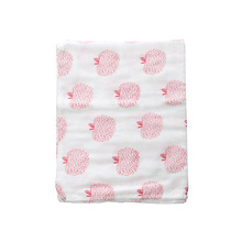 100% cotton printed muslin fabric baby muslin swaddle blanket