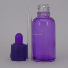 essential oil inhaler 30ml purple glass dropper bottle with glass pipette for e-liquid