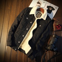 MS70856G Korean style men's thick denim coats