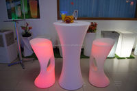 perfect translucent solid surface light up bar table