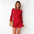clothing custom latest form dress designs online shopping long sleeve/2018 body con red wrap dress wholesale women sexy bodycon