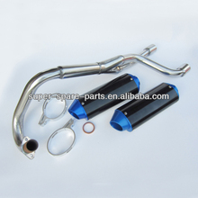 performance dirt bike off road bike double motorcycle exhaust system muffler
