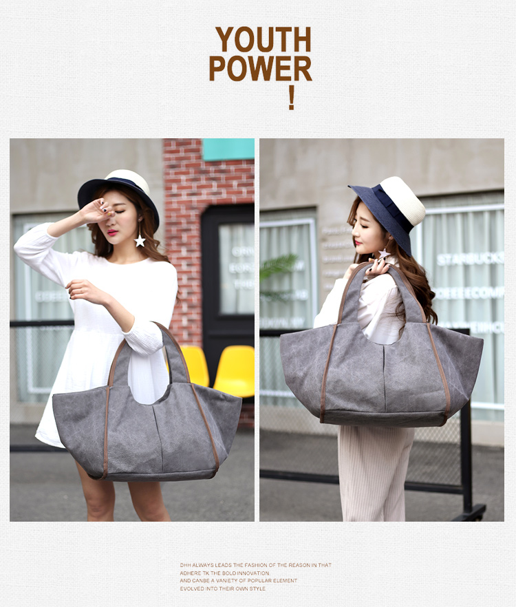 China supplier reciclado big clutches women cotton canvas shoulder tote bags for travelling and beach