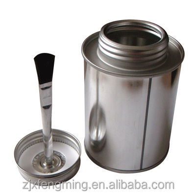 Screw top aerosol spray cans for rubber adhesiving