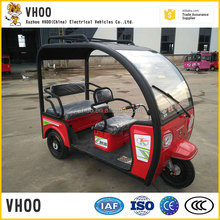 battery operated e tuktuk for passenger with roof
