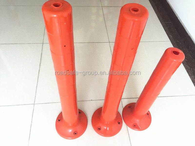 Outdoor Flexible orange reflective warning rubber post
