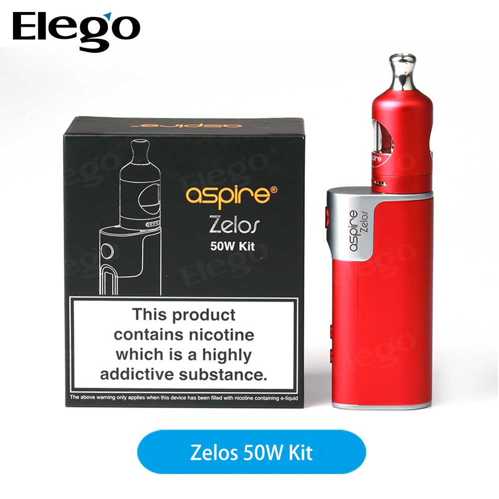 Crazy Selling E-cig 2ml Nautilus 2 Tank and 2500mAh Zelos 50W Mod Aspire Zelos 50W Kit from Elego Wholesale