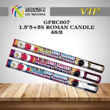"GFRC007 1.5"" 5+5S ROMAN CANDLE UN0336 BIG EXPLODE 1.3G OUTDOOR USE PUT ONT THE GROUND HARD TIGHT FIREWORKS FUEGOS ARTIFICIALES"