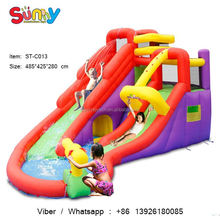 Small bouncy castle slide kids jumping castle inflatables small inflatable santa clause inflatable shark water slide