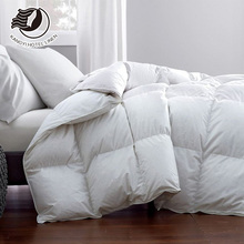 Hot Sale White Cotton Fabric Feather Filled Quilt Winter Quilt For Hotel Use