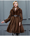Factory Direct Sale Luxury Mink Fur Coat Long Style