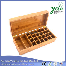 Essential Oil Wooden Storage Gift Box Built-in Magnet Buckle - Fits 26 Bottles