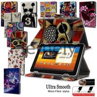In Stock Printed Wallet Leather Universal Tablet Case for Samsung Galaxy Tab 3 10.1'' P5200
