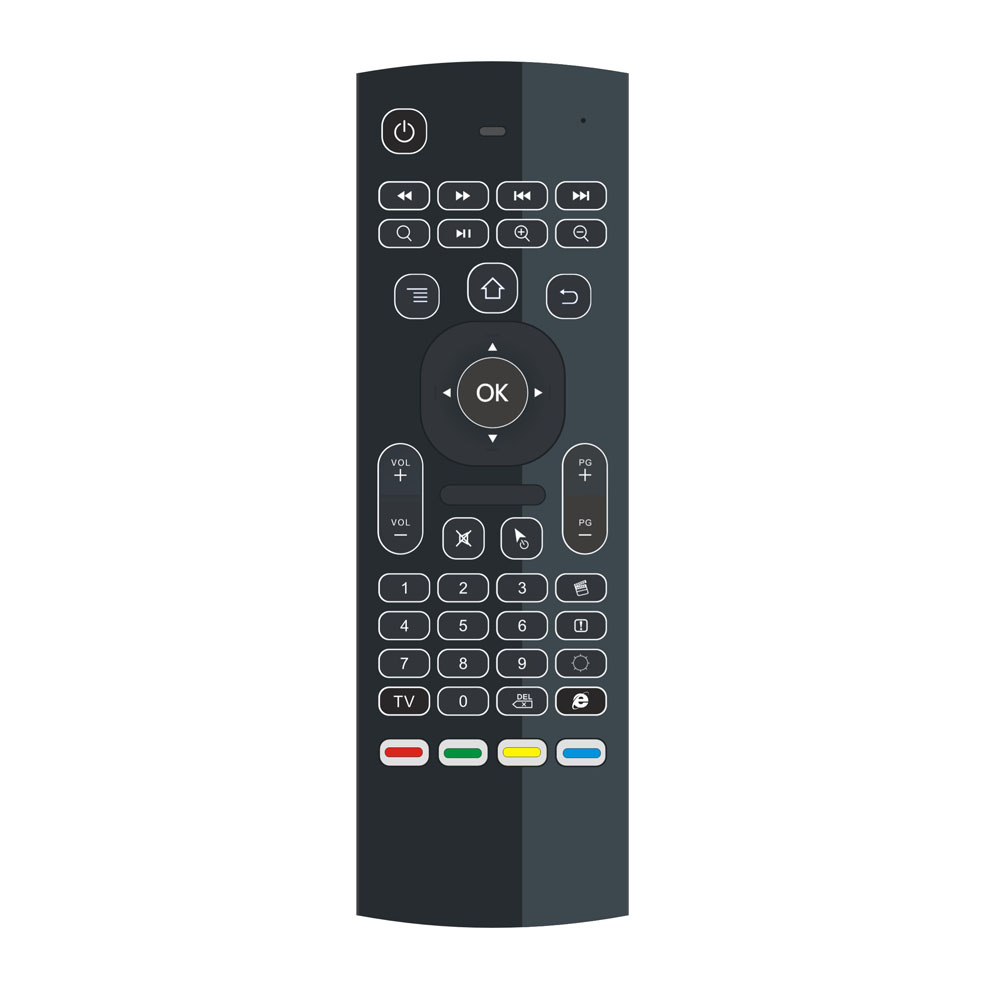 Shenzhen 2017 tv remote control backlight keyboard 2.4G mx3 smart remote control