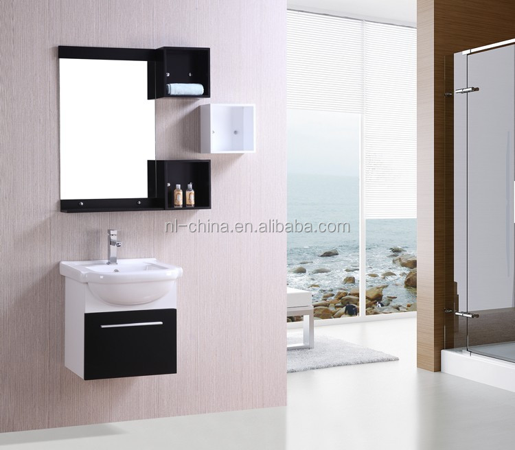 Made in China Customized RV mini high glossy PVC bathroom vanity
