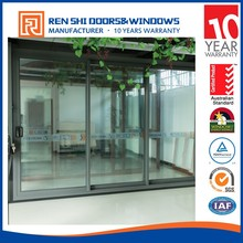 Industrial anti noise sliding glass office entry doors