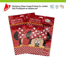 China factory making zipper mickey mouse gift packaging bag