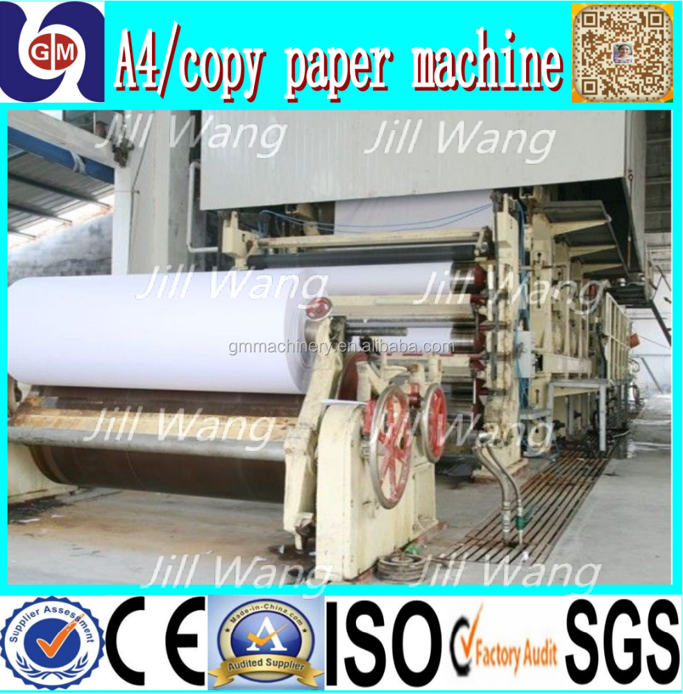 zhengzhou guangmao low cost 787mm 1TPD newsprint a4 copy paper making machine