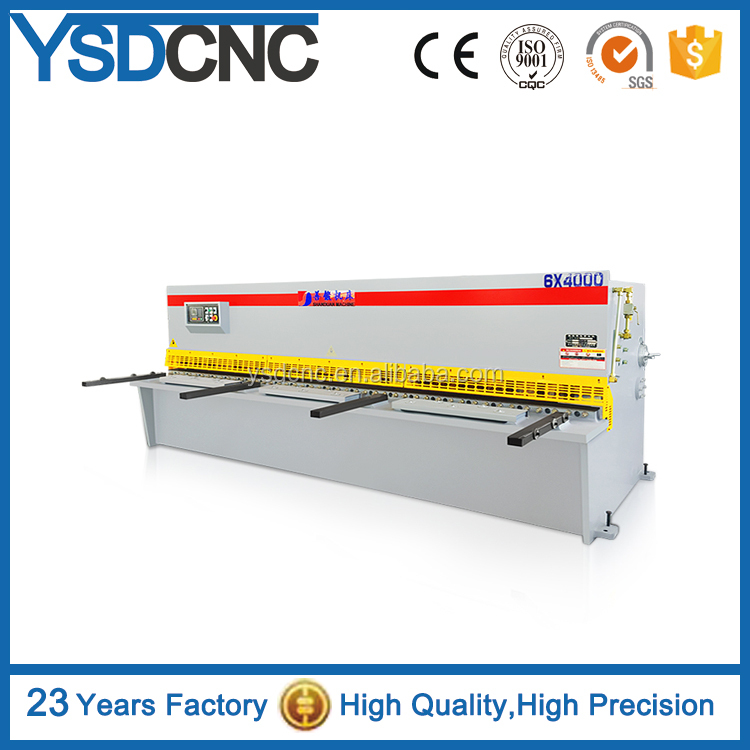 qc12k-12x4000 high quality E21 CNC automatic sheet plate rotary shearing <strong>machine</strong>