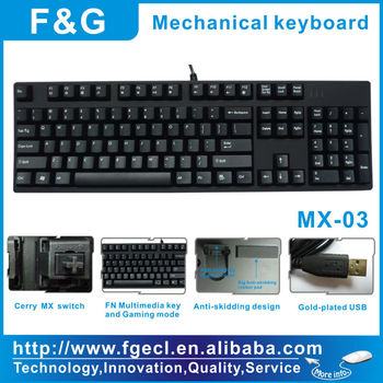 Cherry MX switch mechanical gaming keyboard with NKRO